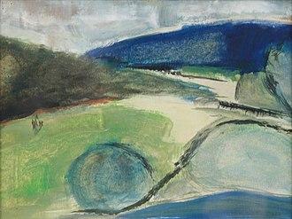 Jan Vanriet - Bohemia, 1966, oil on paper, painted in Sovak's studio