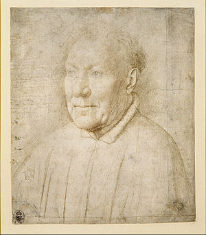 Kupferstich-Kabinett, Dresden - Study for Cardinal Niccolò Albergati, attributed to Jan van Eyck, c. 1431