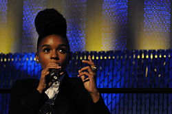 Janelle Monáe on the keynote panel of the 2010 Pop Conference, EMPSFM, Seattle, Washington.