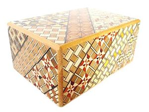 Yosegi Himitsu Bako/ Japanese Puzzle Box is th...