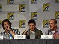 Jared Padalecki, Jensen Ackles & Eric Kripke (4852060821).jpg