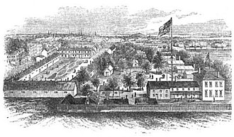 Maryland Line (CSA) - Jarvis Hospital was built on the grounds of Old Steuart Hall (visible bottom right) at the outbreak of the Civil War.