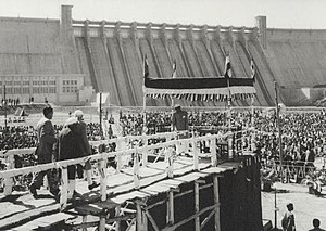 Sonbhadra district - Jawaharlal Nehru at inauguration of Rihand Dam