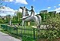 Jeździec na koniu park im. Romana Kozłowskiego w Warszawie.jpg