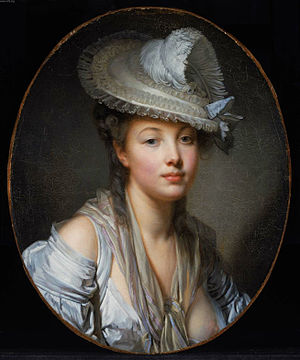 Jean-Baptiste Greuze - The White Hat, 1780