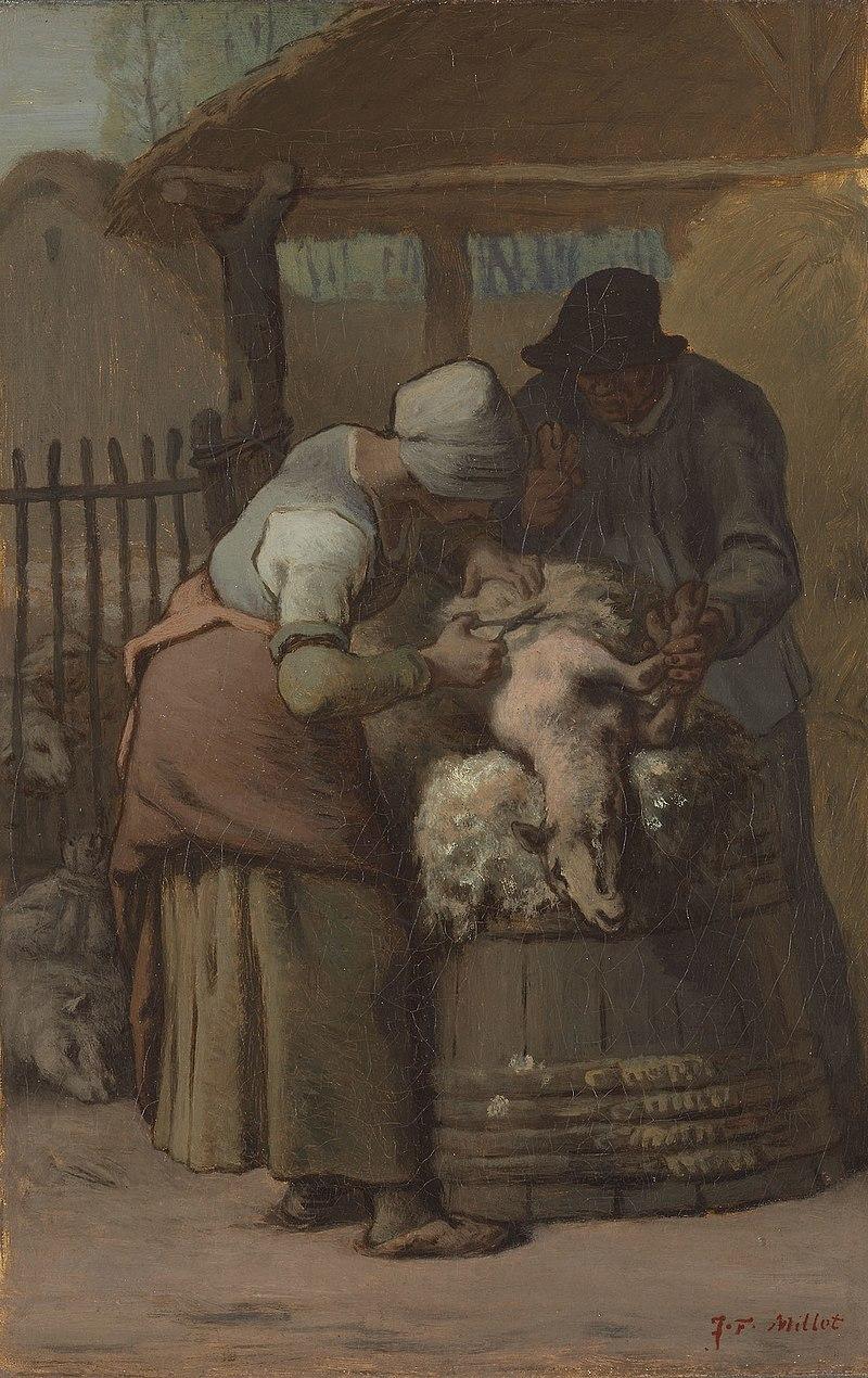 Ca s'est passé en octobre ! 800px-Jean_Fran%C3%A7ois_Millet_-_The_Sheepshearers_-_1922.417_-_Art_Institute_of_Chicago