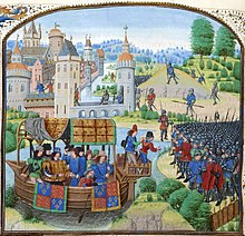 Image of Richard II and the peasants revolt taken from Froissart