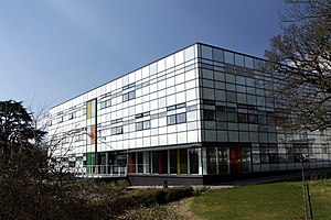 Jennie Lee, Baroness Lee of Asheridge - Jennie Lee Building at Open University Campus in Milton Keynes, spring 2013 (1)