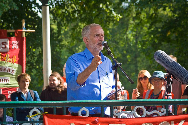 File:Jeremy Corbyn, Leader of the Labour Party, UK speaking at rally.jpg