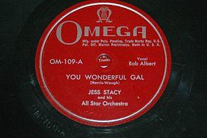 """Jess Stacy - """"You wonderful gal"""", Jess Stacy"""