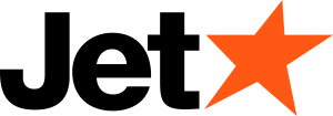 The logo of Jetstar Airways, a sibsidiary of Q...