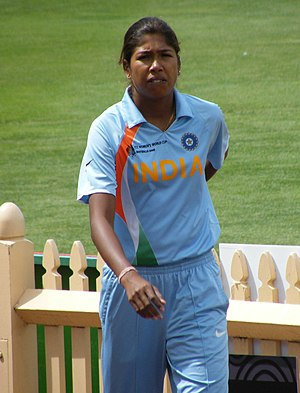 2005 Women's Cricket World Cup Final - Image: Jhulan Goswami (10 March 2009, Sydney)