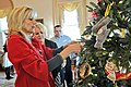 Jill Biden decorating Christmas tree at the White House for National Guard families.jpg