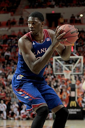 Joel Embiid - Embiid with Kansas in 2014
