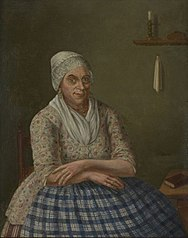 Portret van Kaat Mossel / Catharina Mulder (1723-1798), fervent Rotterdams Orangist