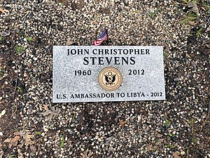 J. Christopher Stevens - John Christopher Stevens gravestone in Grass Valley, California