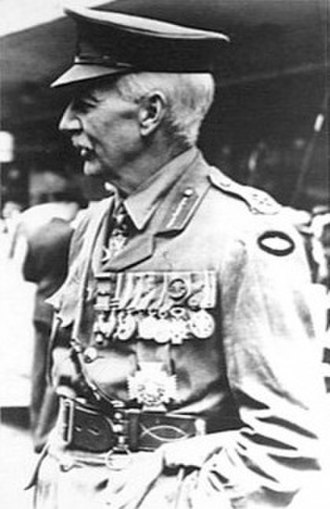 John Gellibrand - Gellibrand on the occasion of the last Anzac Day march led by him – in Melbourne on 25 April 1939.