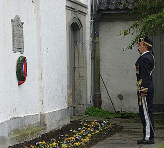 Jonas Rein - Memorial for Jonas Rein on the Nykirken wall