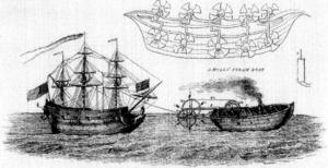Jonathan Hulls - Hulls' 1736 proposal for a paddle-tug