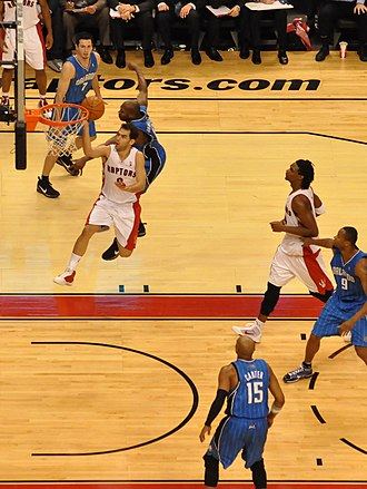 José Calderón (basketball) - Going for a layup against the Orlando Magic, November 22, 2009