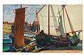 Josef Maria Auchentaller - Segelboote im Hafen von Grado.jpg