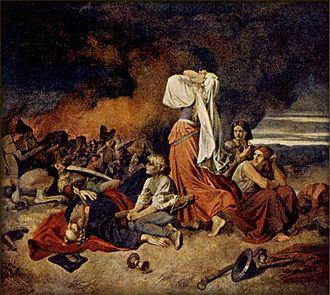 Josef Matyáš Trenkwald - Image: Josef Matyáš Trenkwald Bitva u Lipan 30.května 1434