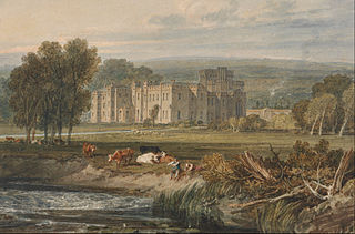 View of Hampton Court, Herefordshire, from the Southeast
