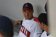 Josh in the GB dugout