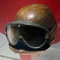 Juan Manuel Fangio helmet and racing goggles Museo Ferrari.jpg