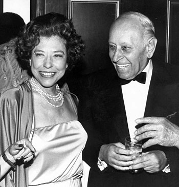 Photo of actors Judy Canova and George Raft