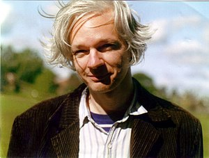 "Julian Assange, photo (""sunny country bac..."