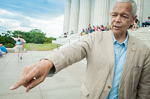 Julian Bond - Julian Bond during the filming of Julian Bond: Reflections from the Frontlines of the Civil Rights Movement