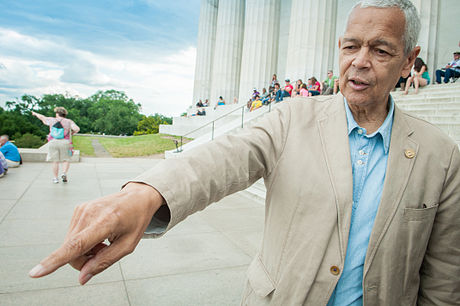 Julian Bond during the filming of Julian Bond: Reflections from the Frontlines of the Civil Rights Movement Julianbondmovie.jpg