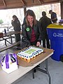 Julie May having cake (8188272563).jpg