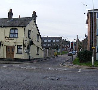 Apsley, Hertfordshire - Image: Junction of London Road Weymouth Street geograph.org.uk 1141608