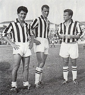 John Charles - The Holy Trident: Charles with Sívori and Boniperti at Juventus