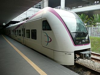 Rail transport in Malaysia - ERL train at KLIA.