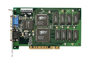 3dfx Interactive - A Diamond Monster 3D, using the Voodoo chipset