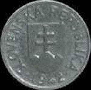 Coins of the Slovak koruna (1939–45) - Image: K Sh 5 1942 obverse
