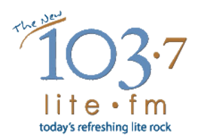 KVIL - 103.7 Lite FM logo used from 2006 to 2008.