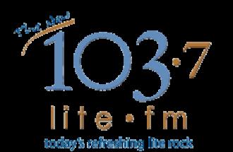 KVIL - 103.7 Lite FM logo used from 2006 to 2008.