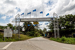The main road gate to Kalabakan town.