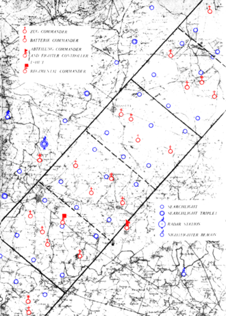 Operations research - Map of Kammhuber Line