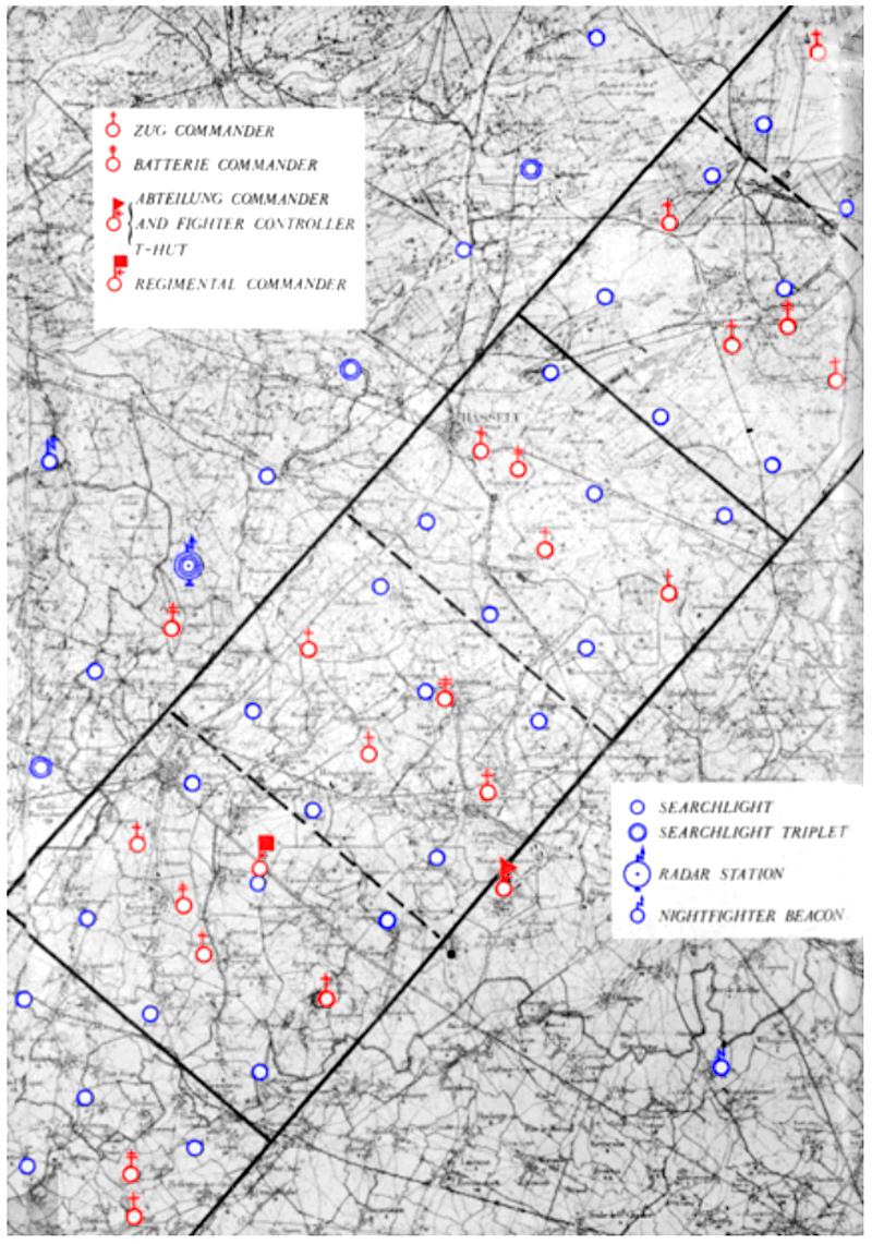 Kammhuber Line Map - Agent Tegal