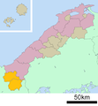 Kanaoshi district in Shimane prefecture.png