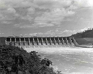 Kaptai Dam - Kapati Dam in 1965