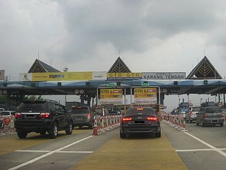 Jakarta–Tangerang Toll Road - Karang Tengah Toll Gate on the Jakarta–Tangerang Toll Road.