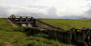 Dam - Karapuzha Dam, an earth dam in the Indian state of Kerala