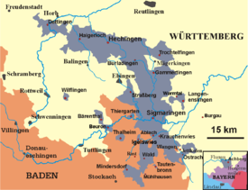 Map of the Hohenzollern Lands 1930