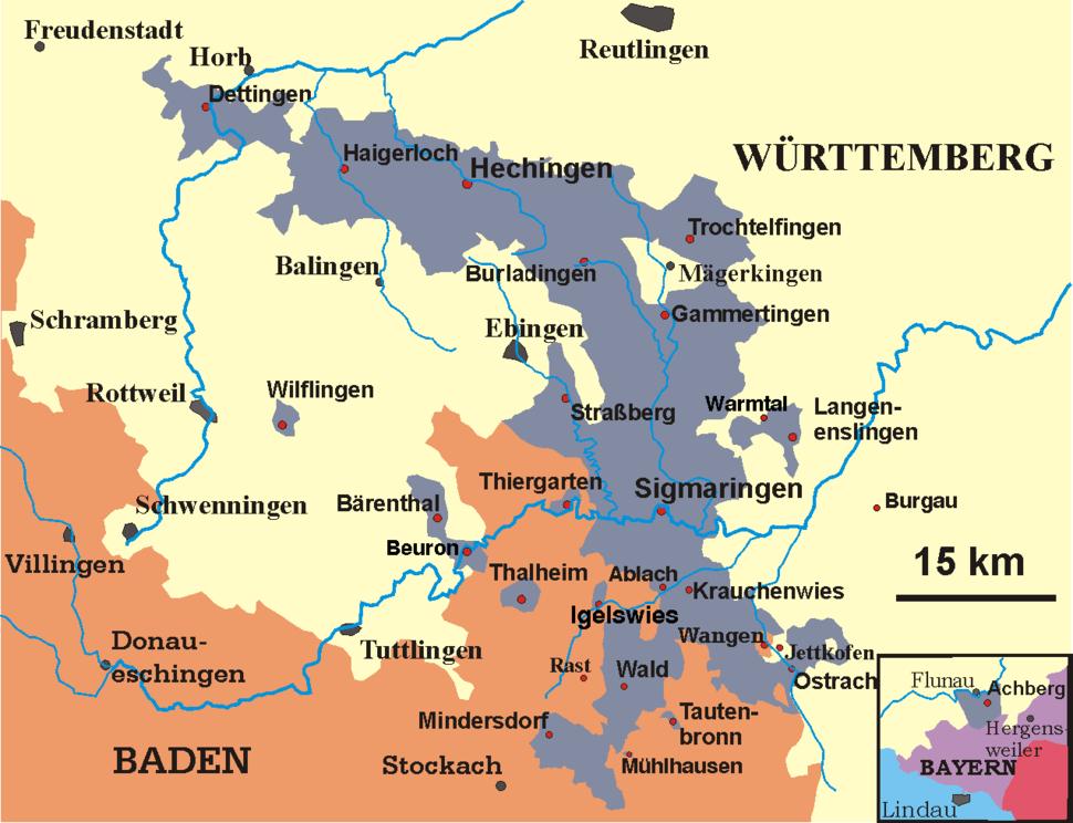 Karte-Hohenzollern